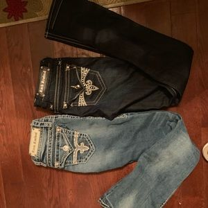 TWO pairs of Rock and Revival jeans size 25